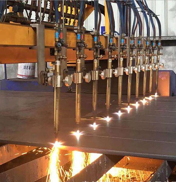龙门式多头直条qy88千亿国际火焰切割机